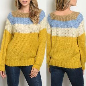 Blue Mustard Sweater {O&O Clothing}
